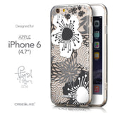 Front & Side View - CASEiLIKE Apple iPhone 6 back cover Japanese Floral 2256
