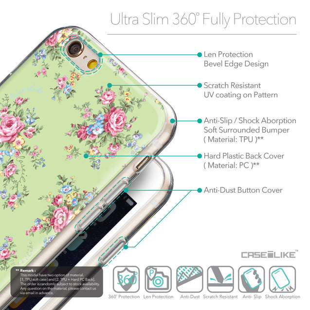 Details in English - CASEiLIKE Apple iPhone 6 back cover Floral Rose Classic 2262