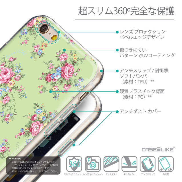 Details in Japanese - CASEiLIKE Apple iPhone 6 back cover Floral Rose Classic 2262