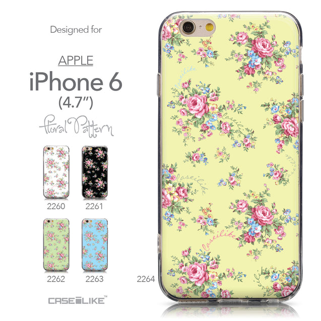 Collection - CASEiLIKE Apple iPhone 6 back cover Floral Rose Classic 2264