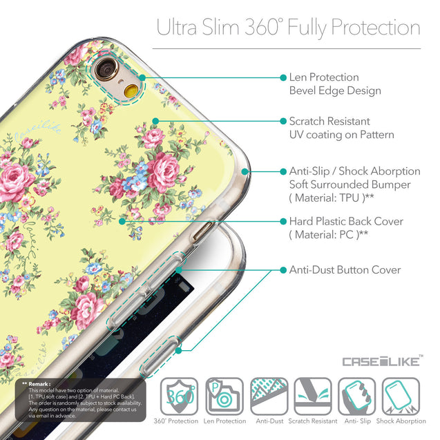 Details in English - CASEiLIKE Apple iPhone 6 back cover Floral Rose Classic 2264