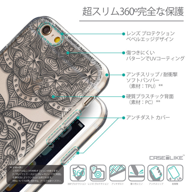 Details in Japanese - CASEiLIKE Apple iPhone 6 back cover Mandala Art 2304