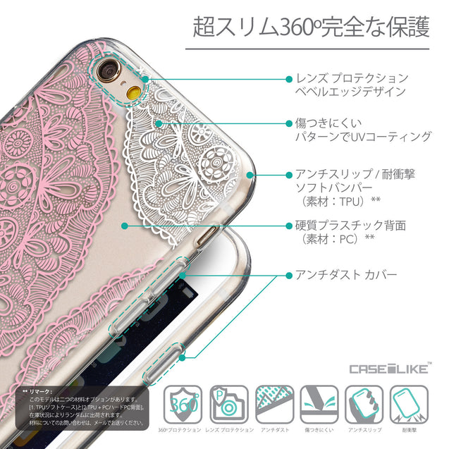 Details in Japanese - CASEiLIKE Apple iPhone 6 back cover Mandala Art 2305