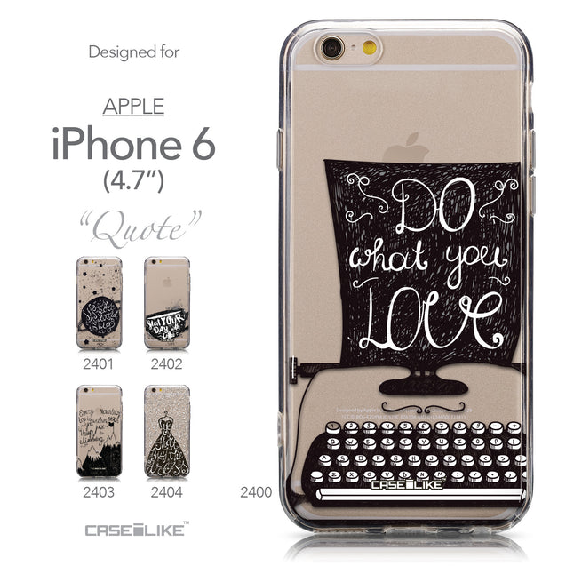 Collection - CASEiLIKE Apple iPhone 6 back cover Quote 2400