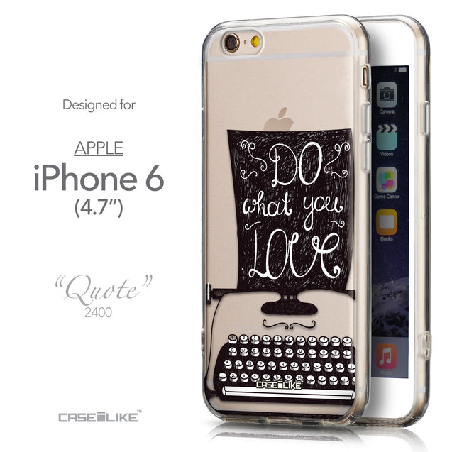 Front & Side View - CASEiLIKE Apple iPhone 6 back cover Quote 2400