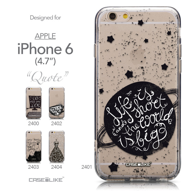 Collection - CASEiLIKE Apple iPhone 6 back cover Quote 2401