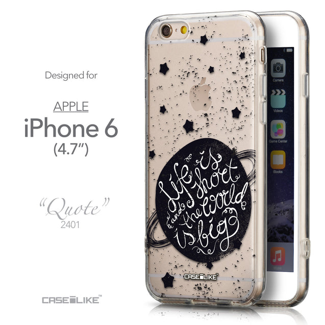 Front & Side View - CASEiLIKE Apple iPhone 6 back cover Quote 2401