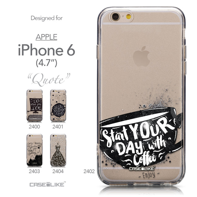 Collection - CASEiLIKE Apple iPhone 6 back cover Quote 2402