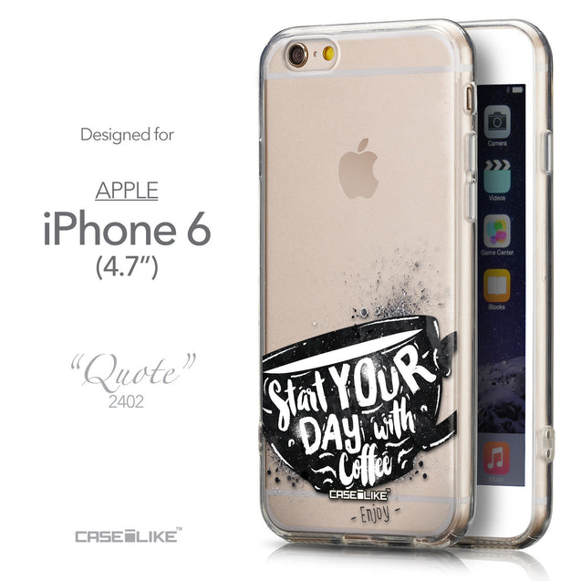 Front & Side View - CASEiLIKE Apple iPhone 6 back cover Quote 2402
