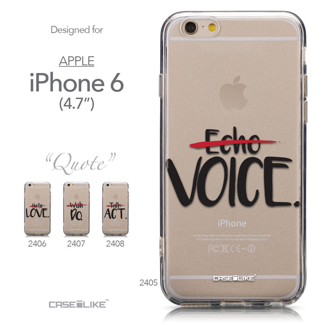 Collection - CASEiLIKE Apple iPhone 6 back cover Quote 2405