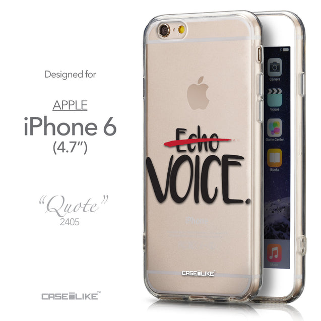 Front & Side View - CASEiLIKE Apple iPhone 6 back cover Quote 2405