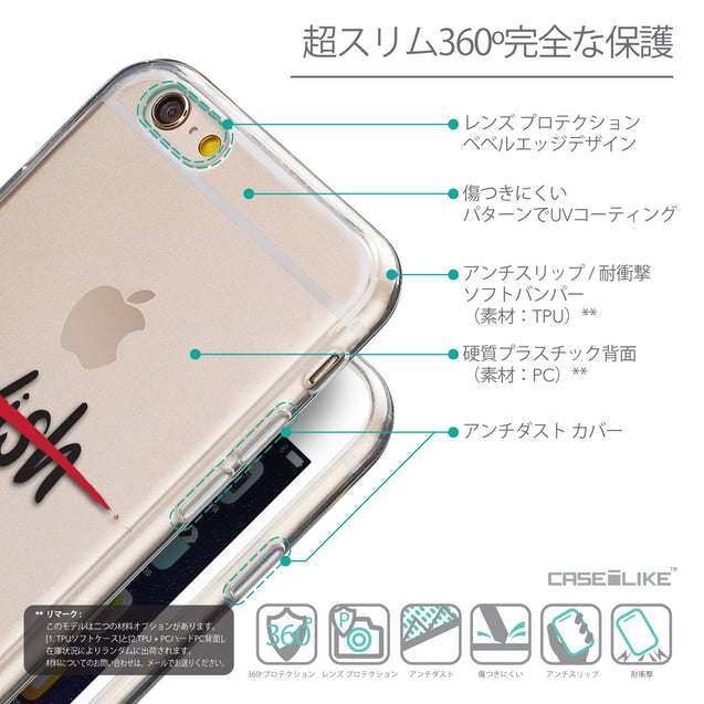 Details in Japanese - CASEiLIKE Apple iPhone 6 back cover Quote 2407