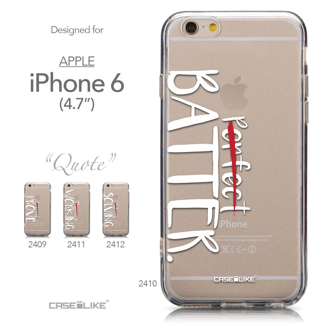 Collection - CASEiLIKE Apple iPhone 6 back cover Quote 2410