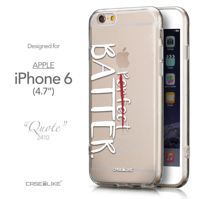 Front & Side View - CASEiLIKE Apple iPhone 6 back cover Quote 2410