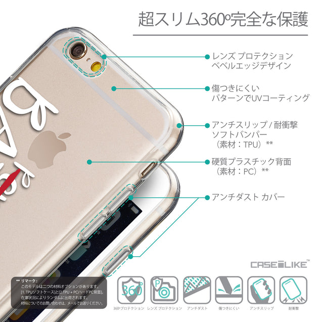 Details in Japanese - CASEiLIKE Apple iPhone 6 back cover Quote 2410