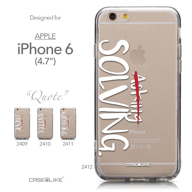 Collection - CASEiLIKE Apple iPhone 6 back cover Quote 2412