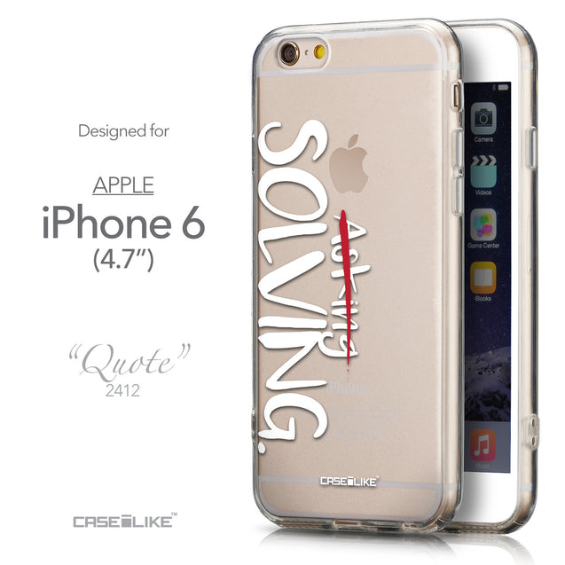 Front & Side View - CASEiLIKE Apple iPhone 6 back cover Quote 2412
