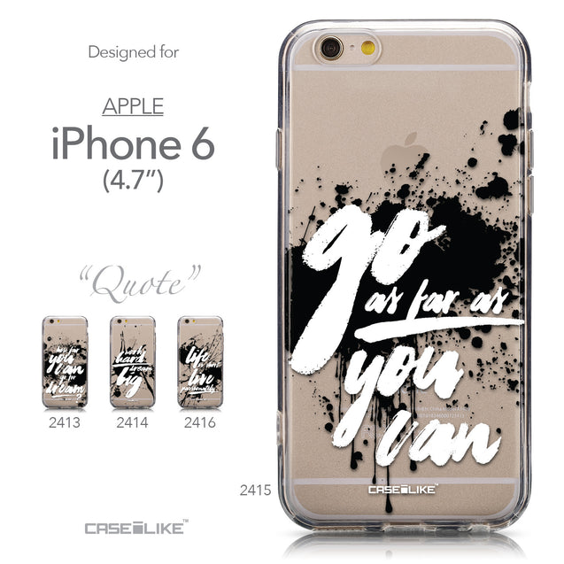 Collection - CASEiLIKE Apple iPhone 6 back cover Quote 2415