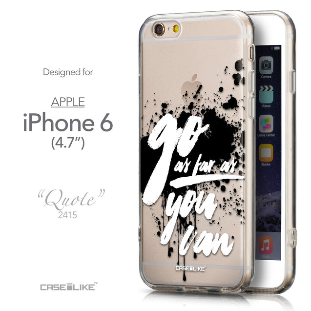Front & Side View - CASEiLIKE Apple iPhone 6 back cover Quote 2415