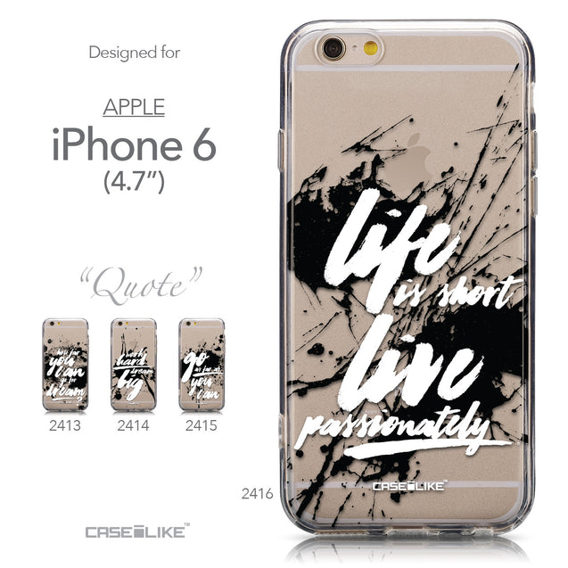 Collection - CASEiLIKE Apple iPhone 6 back cover Quote 2416