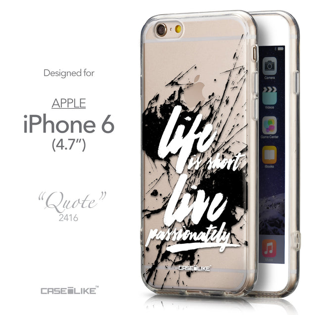 Front & Side View - CASEiLIKE Apple iPhone 6 back cover Quote 2416