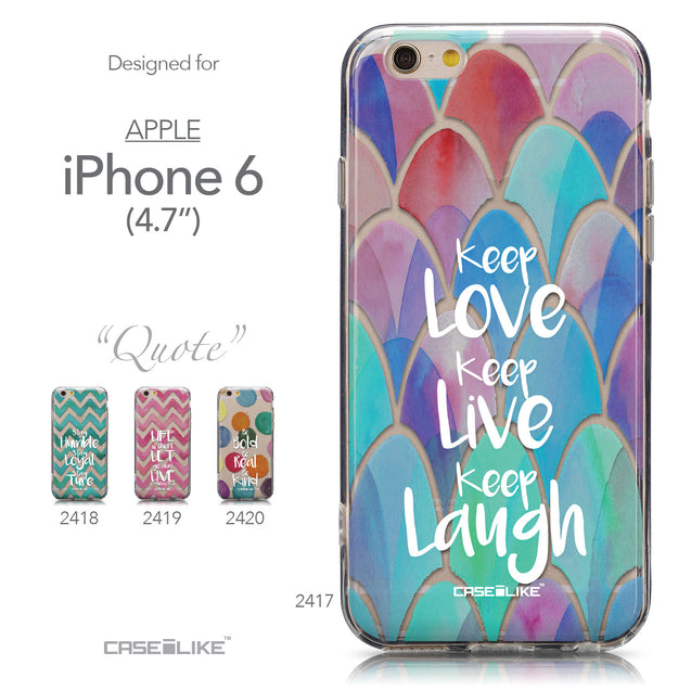 Collection - CASEiLIKE Apple iPhone 6 back cover Quote 2417