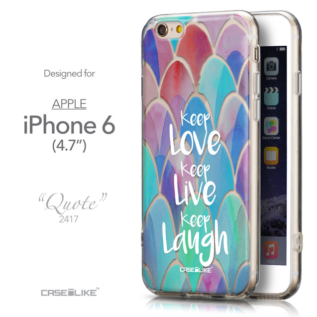 Front & Side View - CASEiLIKE Apple iPhone 6 back cover Quote 2417