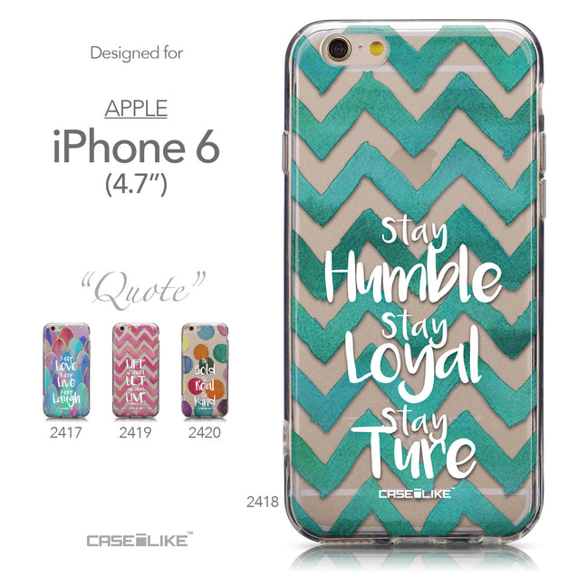 Collection - CASEiLIKE Apple iPhone 6 back cover Quote 2418