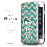 Front & Side View - CASEiLIKE Apple iPhone 6 back cover Quote 2418