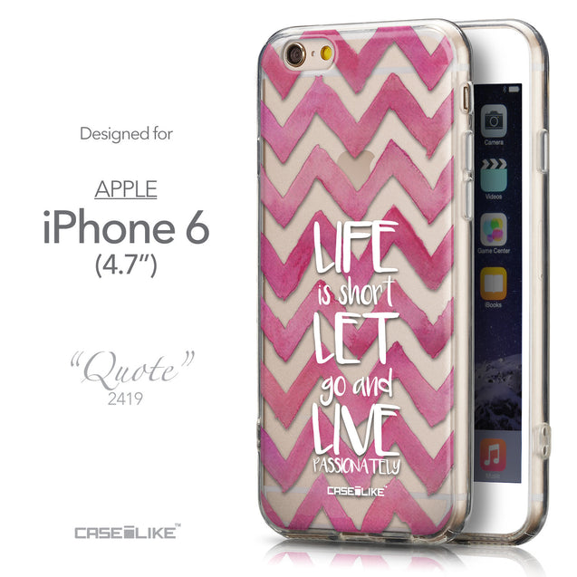 Front & Side View - CASEiLIKE Apple iPhone 6 back cover Quote 2419