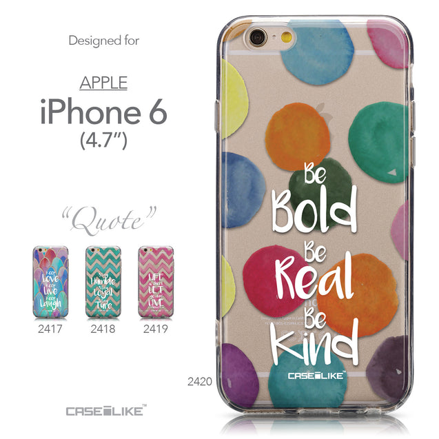 Collection - CASEiLIKE Apple iPhone 6 back cover Quote 2420
