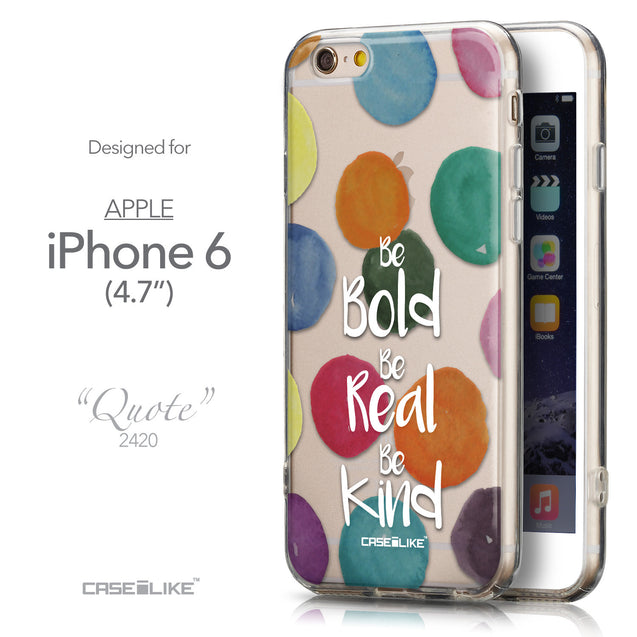 Front & Side View - CASEiLIKE Apple iPhone 6 back cover Quote 2420