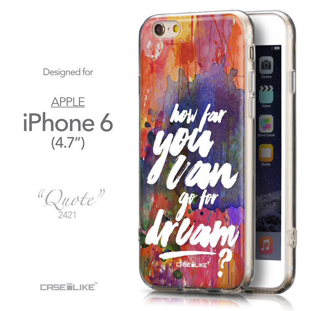 Front & Side View - CASEiLIKE Apple iPhone 6 back cover Quote 2421