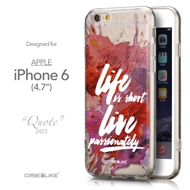 Front & Side View - CASEiLIKE Apple iPhone 6 back cover Quote 2423