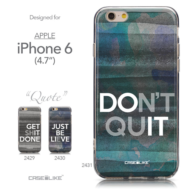Collection - CASEiLIKE Apple iPhone 6 back cover Quote 2431