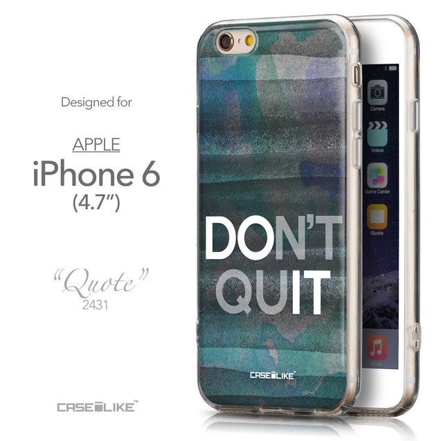 Front & Side View - CASEiLIKE Apple iPhone 6 back cover Quote 2431