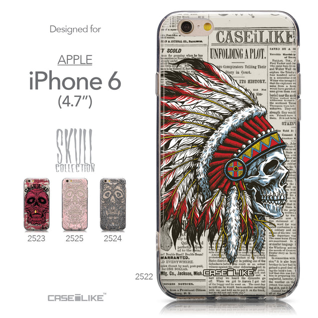 Collection - CASEiLIKE Apple iPhone 6 back cover Art of Skull 2522