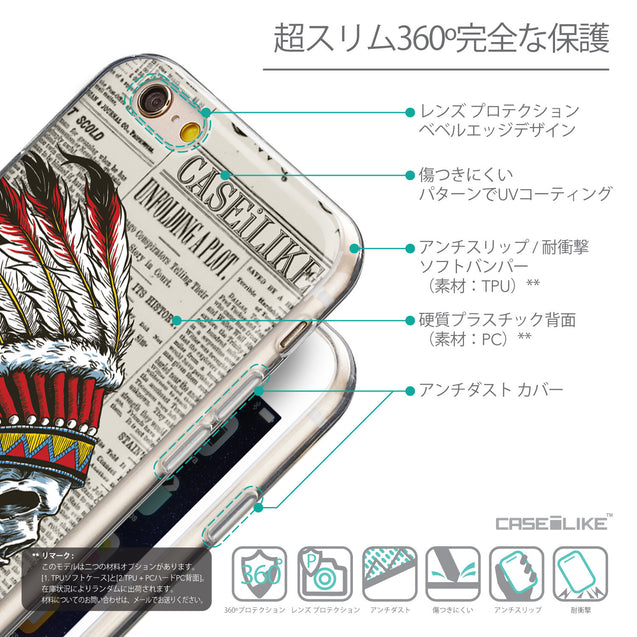 Details in Japanese - CASEiLIKE Apple iPhone 6 back cover Art of Skull 2522