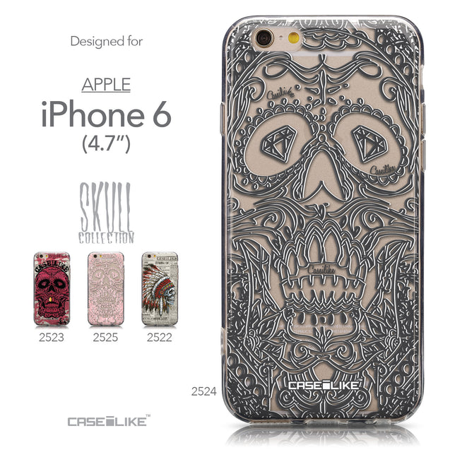 Collection - CASEiLIKE Apple iPhone 6 back cover Art of Skull 2524