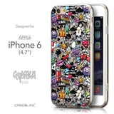 Front & Side View - CASEiLIKE Apple iPhone 6 back cover Graffiti 2703