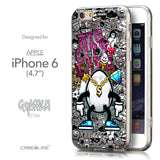 Front & Side View - CASEiLIKE Apple iPhone 6 back cover Graffiti 2704