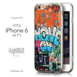 Front & Side View - CASEiLIKE Apple iPhone 6 back cover Graffiti 2722