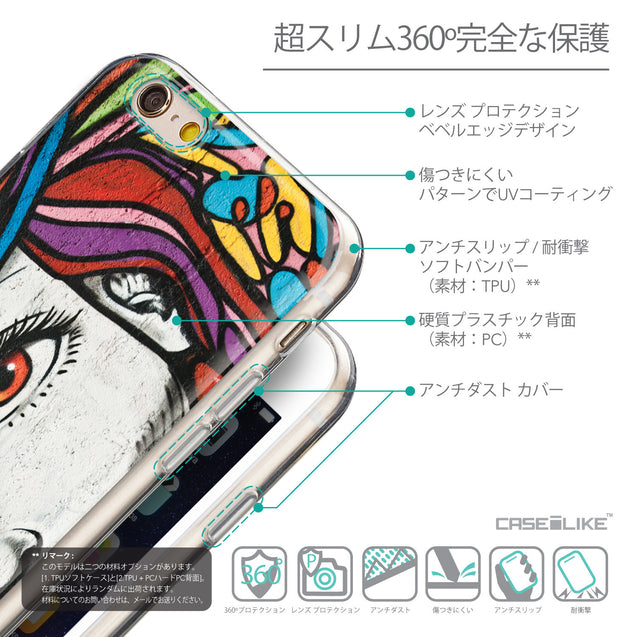 Details in Japanese - CASEiLIKE Apple iPhone 6 back cover Graffiti Girl 2725