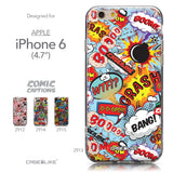 Collection - CASEiLIKE Apple iPhone 6 back cover Comic Captions Blue 2913
