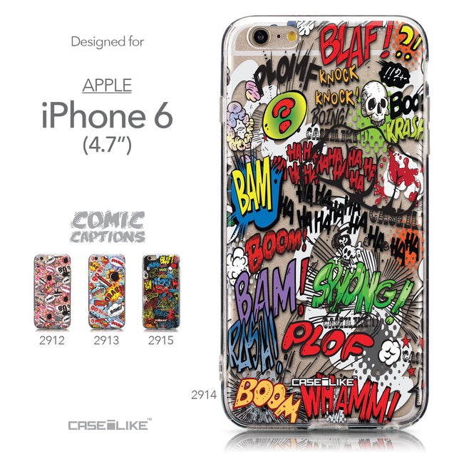 Collection - CASEiLIKE Apple iPhone 6 back cover Comic Captions 2914