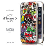 Front & Side View - CASEiLIKE Apple iPhone 6 back cover Comic Captions 2914