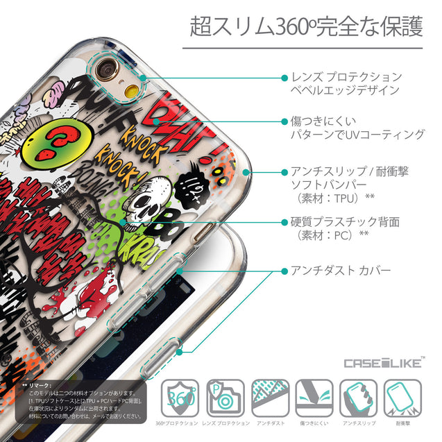 Details in Japanese - CASEiLIKE Apple iPhone 6 back cover Comic Captions 2914