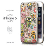 Front & Side View - CASEiLIKE Apple iPhone 6 back cover Owl Graphic Design 3315
