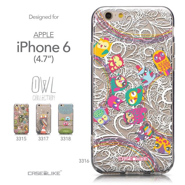 Collection - CASEiLIKE Apple iPhone 6 back cover Owl Graphic Design 3316