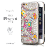 Front & Side View - CASEiLIKE Apple iPhone 6 back cover Owl Graphic Design 3316